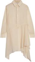 Marques Almeida Marques' Almeida Asymmetric frayed cotton-broadcloth dress