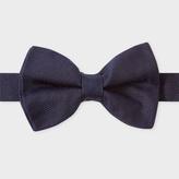 Paul Smith Men's Navy Textured Silk Bow Tie