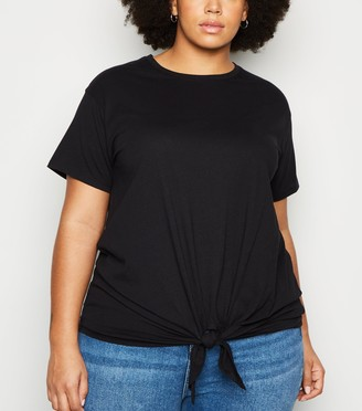 New Look Curves Tie Front T-Shirt