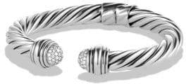 David Yurman Cable Classics Pave Tip Bracelet with Diamonds