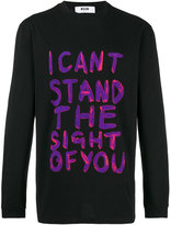 MSGM printed sweatshirt - men - Cotton - M