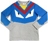 Fendi Monster Printed Cotton Jersey T-Shirt