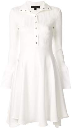 Ellery LS high-neck flared dress