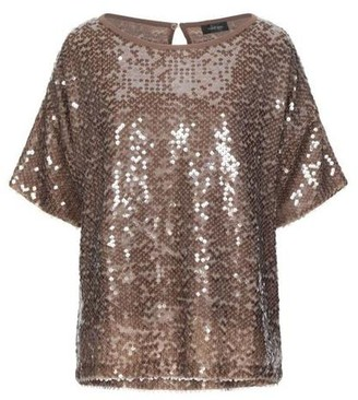 Ottod'Ame - Lum Bronze Sequin Top - 40