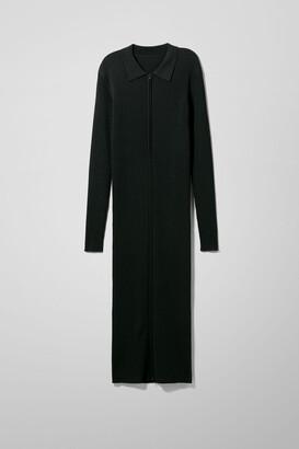 Weekday Riana Knitted Dress - Black