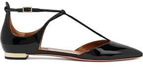 Aquazzura Scarlet Patent-leather Point-toe Flats