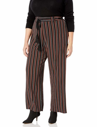 City Chic Women's Apparel Women's Plus Size Wide Legged Trouser with Rope Belt Detail