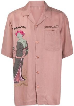 MHI Space Geisha embroidered shirt