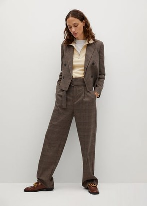 MANGO Belt check trousers