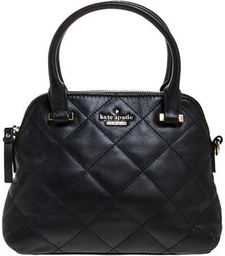 Kate Spade Black Leather Patterson Drive Dome Satchel