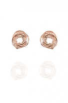 Quiz Rose Gold Circle Earrings