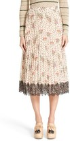 RED Valentino Women's Blooming Garden Print Pleated Skirt
