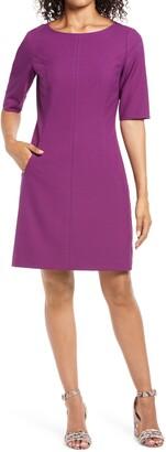 Tahari Crepe Sheath Dress