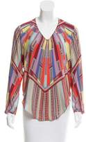 Alexis High-Low Silk Blouse