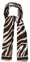 Michael Kors Zebra Printed Scarf