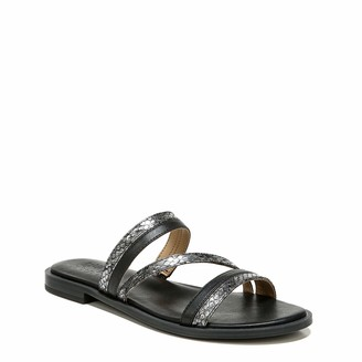 Naturalizer Womens Liley Black Multi Slide Sandals 6 W