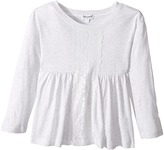 Splendid Littles Long Sleeve Top with Lace Insert Girl's Clothing