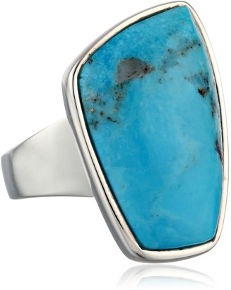 "Barse Basics"" Genuine Turquoise Abstract Ring Size 6"