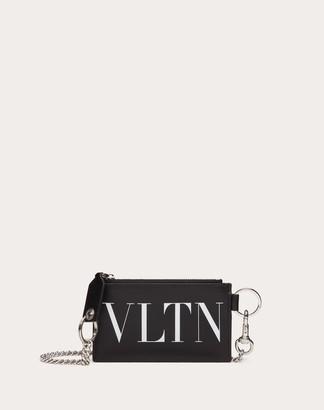 Valentino Uomo Vltn Cardholder Man Black Bovine Leather 100% OneSize