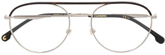 Carrera 210 Round-Frame Wire Glasses
