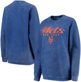 G Iii Women's G-III 4Her by Carl Banks Royal New York Mets Comfy Cord Pullover Sweatshirt
