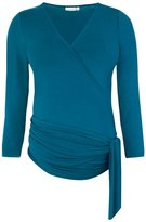 Jo-Jo JoJo Maman Bebe Wrap Top - Blue-X-Small
