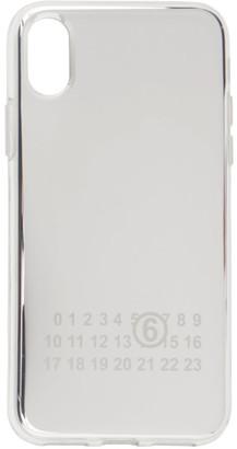 MM6 MAISON MARGIELA Silver Mirrored iPhone X Case