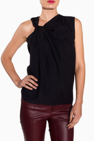 HELMUT LANG Render Twisted Neck Top - Black