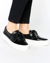 Pull&Bear Leather Look Knot Flatform Sneaker