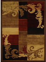 Dynamix Home Catalina Light Brown/Red Area Rug Rug