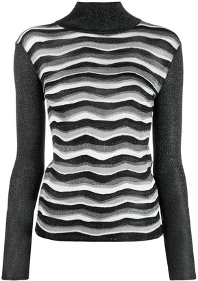 Emilio Pucci Glitter Effect Knitted Top