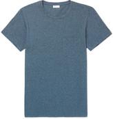 Schiesser - Fred Slim-fit Striped Mélange Cotton-jersey T-shirt