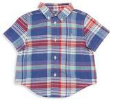 Ralph Lauren Baby's Madras Plaid Short Sleevee Button-Down Shirt