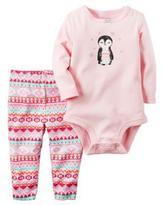 Carter's Girls' 'Penguin' 2-Piece Bodysuit & Pant Set