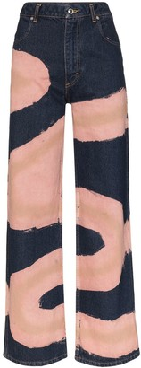 Eckhaus Latta Chemtrail printed wide leg jeans