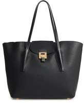 Michael Kors Large Bancroft Leather Tote - Black