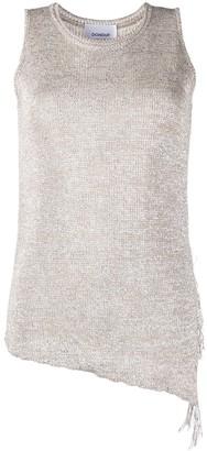 Dondup sleeveless metallic top