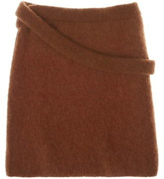 Helmut Lang Double Knit Wool Skirt