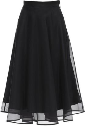 MSGM Lined Organza Midi Skirt