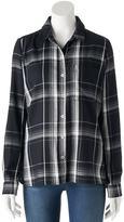 SO Juniors' SO® Plaid High-Low Shirt