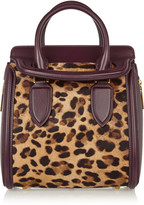 Alexander McQueen The Heroine small leather and leopard-print calf hair tote