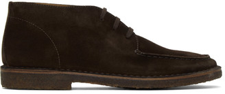 Drakes Brown Crosby Moc Toe Chukka Boots