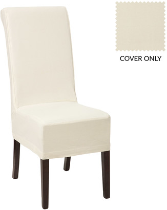 OKA Cotton Slip Cover for Echo Dining Chair-Off-White