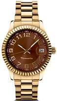 Tamaris Debby Women's Quartz Watch with Brown Dial Analogue Display and Stainless Steel Bracelet