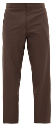 Edward Crutchley Cropped Straight-leg Wool Trousers - Brown