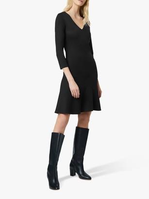 French Connection Sancia Jersey V Neck Dress, Black