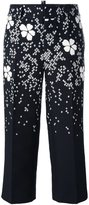 DSQUARED2 floral blossom cropped trousers - women - Silk/Cotton/Polyamide/Viscose - 40