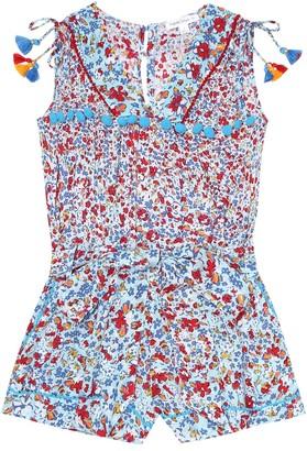 Poupette St Barth Kids Mya floral jumpsuit