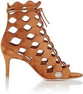 Gianvito Rossi Women's Azalia Lace-Up Boots-BROWN