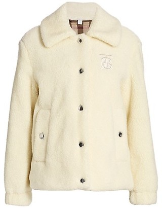 Burberry Rosewell Faux Shearling Jacket